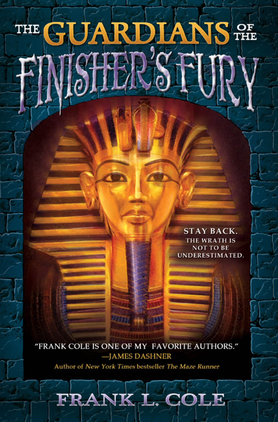 Cover for The Guardians of the Finishers Fury; an image of an Egyptian sarcophagus.